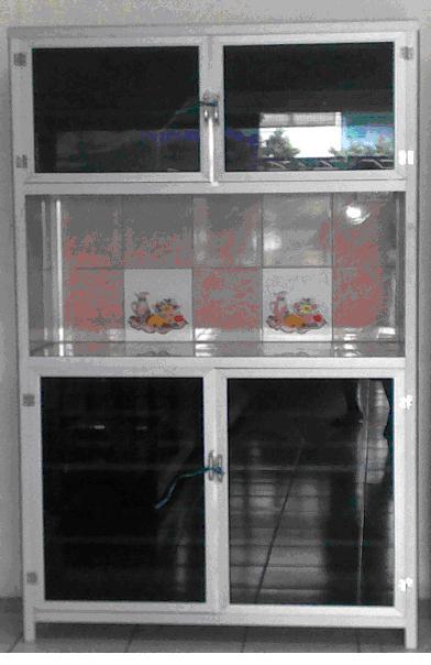 Penjualan Etalase Meja Alumunium Gerobak Makanan Rak Piring Rak